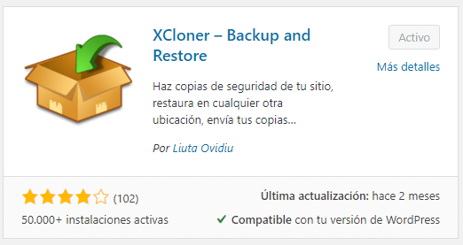 xcloner wordpress
