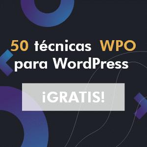 Banner de 50 técnicas WPO para WordPress