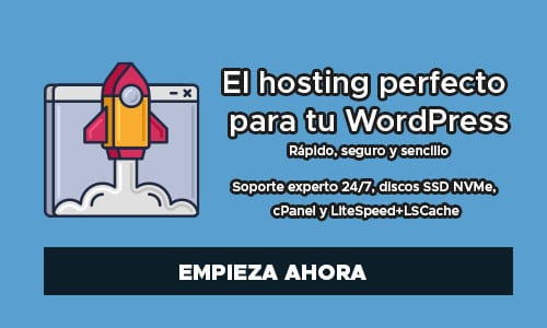 Banner de Hosting WordPress