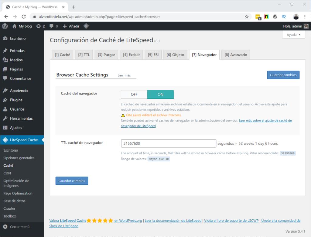 cache de navegador