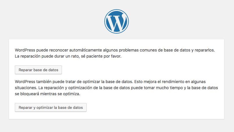 optimizar base de datos de wordpress