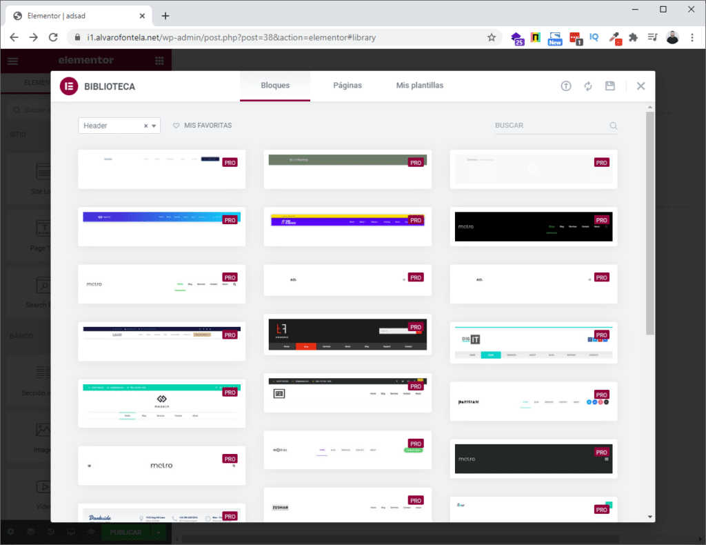 theme builder elementor pro